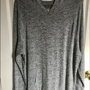 Ultra teeze brand hooded gray tunic. 2X